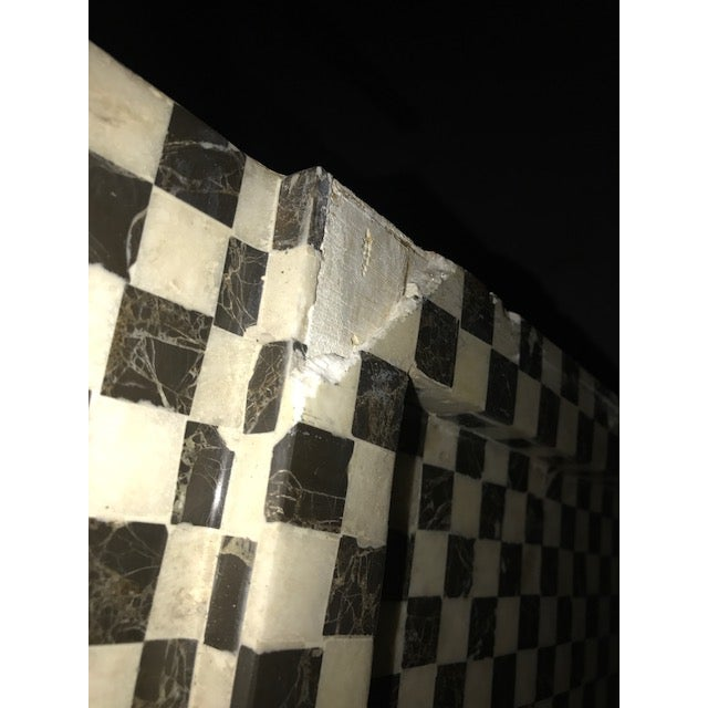 Marble Inlay Checkered Desk - Image 6 of 7