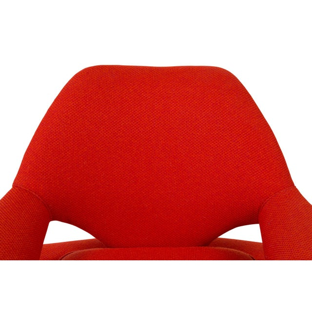 Red Sculptural Large Mid-Century Italian Lounge Chairs - a Pair For Sale - Image 8 of 10