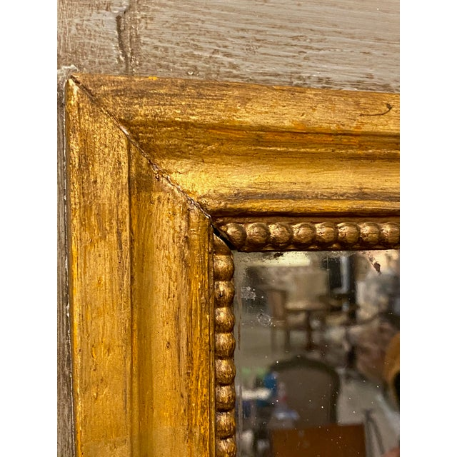 19th Century French Painted Trumeau Mirror For Sale In Dallas - Image 6 of 9