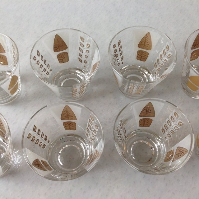 Fred Press Mid-Century Gold Tree Shot Glasses- S/8 - Image 11 of 11