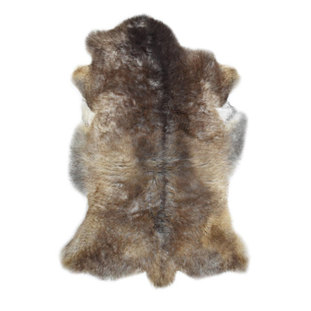 "Wool Sheepskin Pelt Handmade Rug - 2'6"" x 3'8"" - Image 8 of 8"