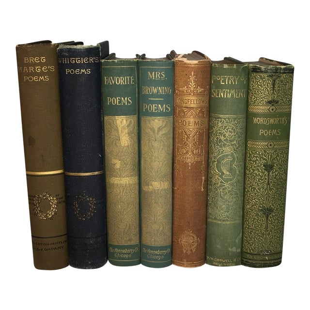 Antique Poetry Books - Set of 7 - Image 1 of 5