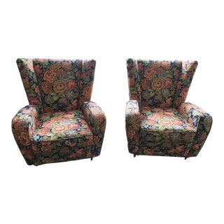 1950s Paolo Buffa Midcentury Italian Armchairs - A Pair For Sale