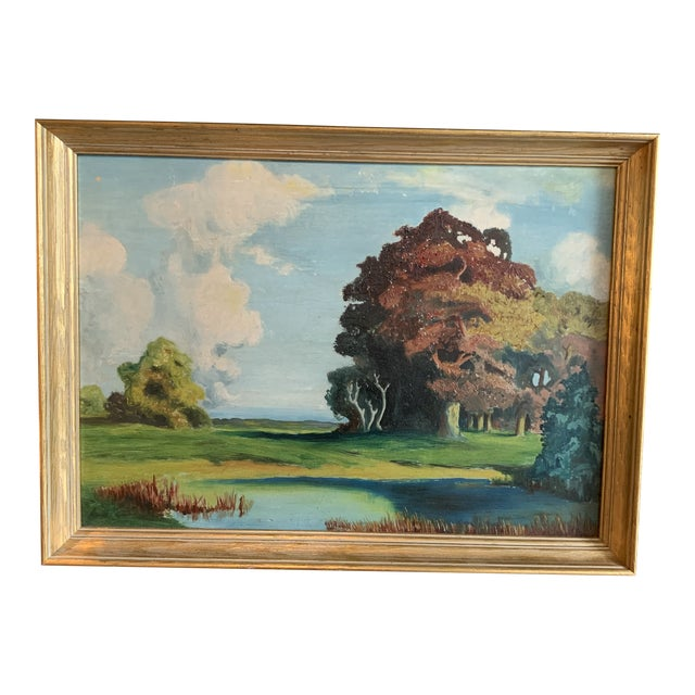 Autumn Plein Air Painting For Sale