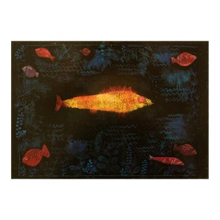 "1990 Paul Klee ""The Goldfish"", First German Edition Poster For Sale"