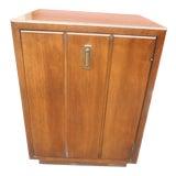 Image of 1960s Mid-Century Modern Walnut Nightstand/Storage Cabinet For Sale