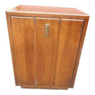 1960s Mid-Century Modern Walnut Nightstand/Storage Cabinet For Sale
