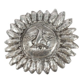 Late 20th Century Vintage Donald Drumm Cast Metal Sun Wall Accent For Sale