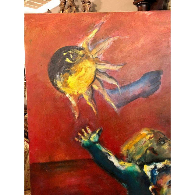 Oil on canvas signed and dated 'A Place In The Sun' by P. Nevin '88. Daniel Nevins grew up in Florida during the golden...