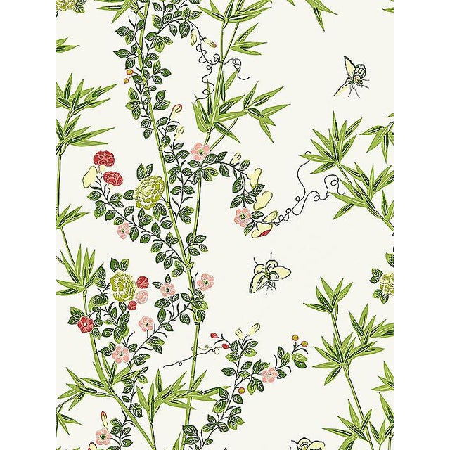 Chinoiserie Sample, Scalamandre Jardin De Chine, Spring Wallpaper For Sale - Image 3 of 3