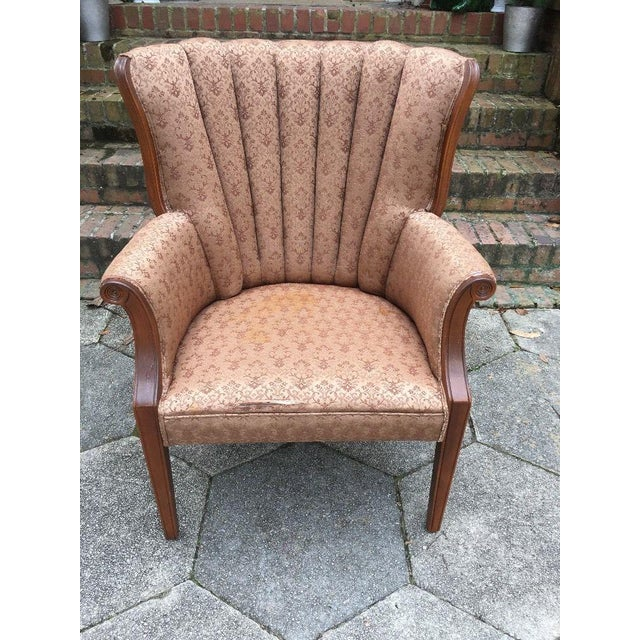 Hollywood Regency Hollywood Regency Channel Back Chair For Sale - Image 3 of 6