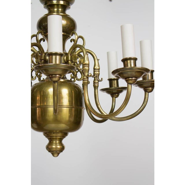 Traditional Early 20th Century Dutch Style Eight Arm Chandelier For Sale - Image 3 of 10