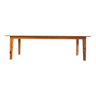 Rustic Handcrafted Oak Shaker Dining Table For Sale