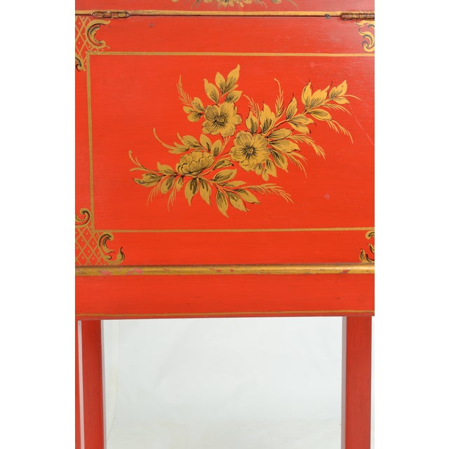 Wood Chinoiserie Box on Stand For Sale - Image 7 of 13