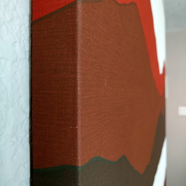 Vintage 1981 Mountain & Lake Silk-Screen Print For Sale In San Francisco - Image 6 of 6