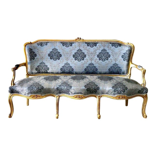 1960s Vintage Modern French Louis XVI Style Sofa For Sale