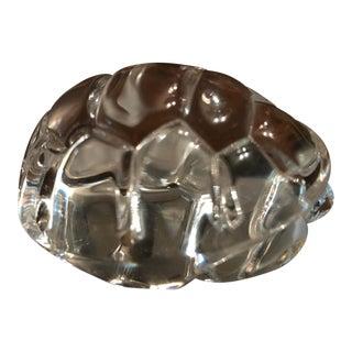 Vintage Steuben Glass Turtle Hand Cooler For Sale