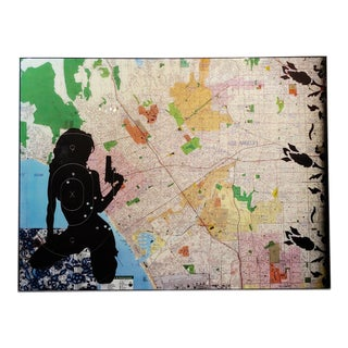 Abstract Original Art Work on Panel by Ellwood T. Risk, City of Angels For Sale