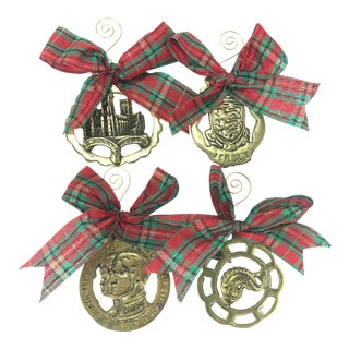 English Horse Brass Ornaments, S/4 For Sale