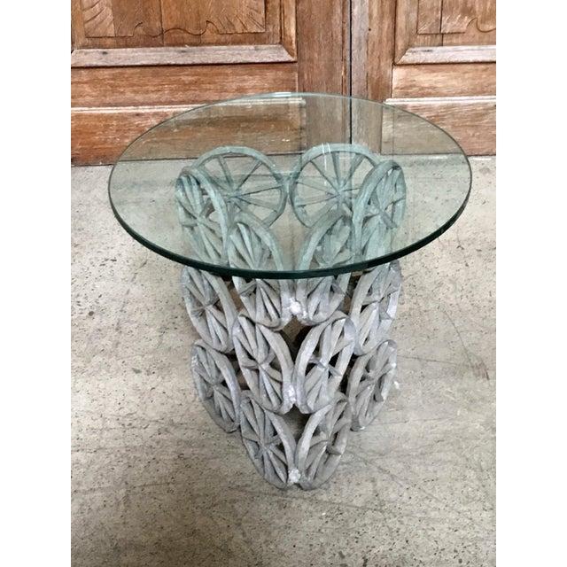 Brutalist Donald Drumm Glass Side Table For Sale - Image 3 of 8