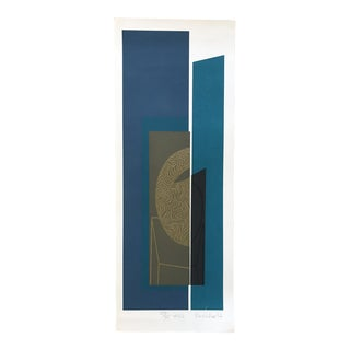 1977 Mashiko Japanese Abstract Art Print Signed, Dated, and Numbered 27/35 For Sale