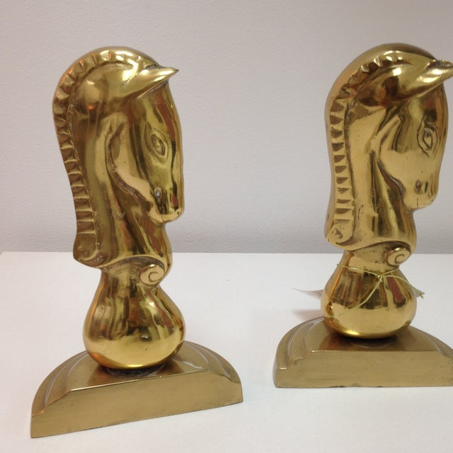 Brass Horse Bookends - Pair - Image 3 of 6