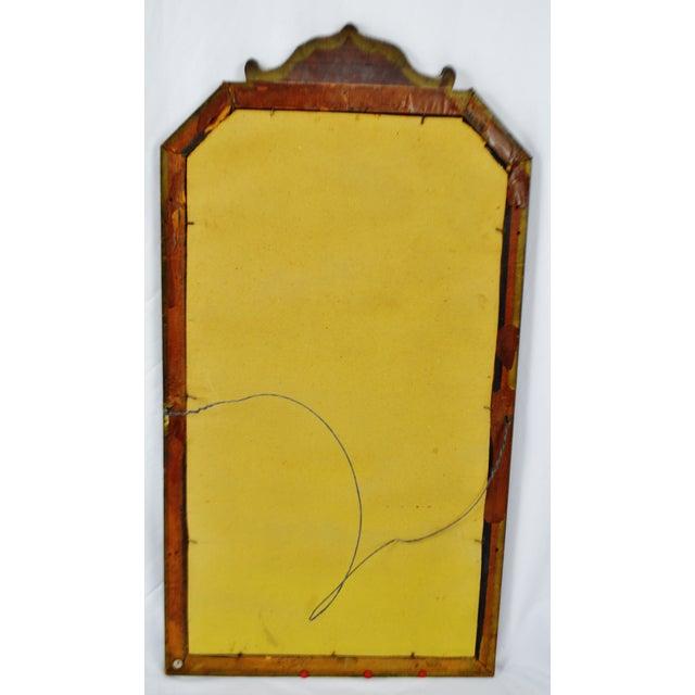 Vintage Decorative Nurre Mirror Etched Glass Wall Mirror | Chairish