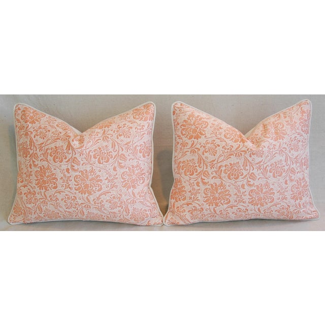 Designer Italian Fortuny Cimarosa Feather/Down Pillows - a Pair For Sale In Los Angeles - Image 6 of 10
