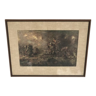"Vintage ""The Last Night of the War"" WWI Battle Scene Print by FC Yohn For Sale"