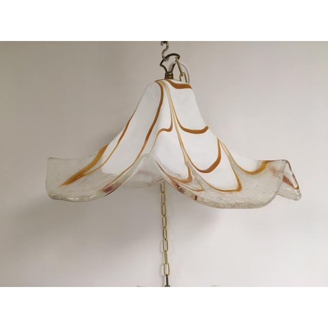 Handkerchief Style Murano Single Pendant Light by Fazzoletto For Sale - Image 12 of 12