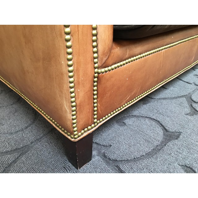 Ralph Lauren Brompton Leather Sofa - Image 4 of 9