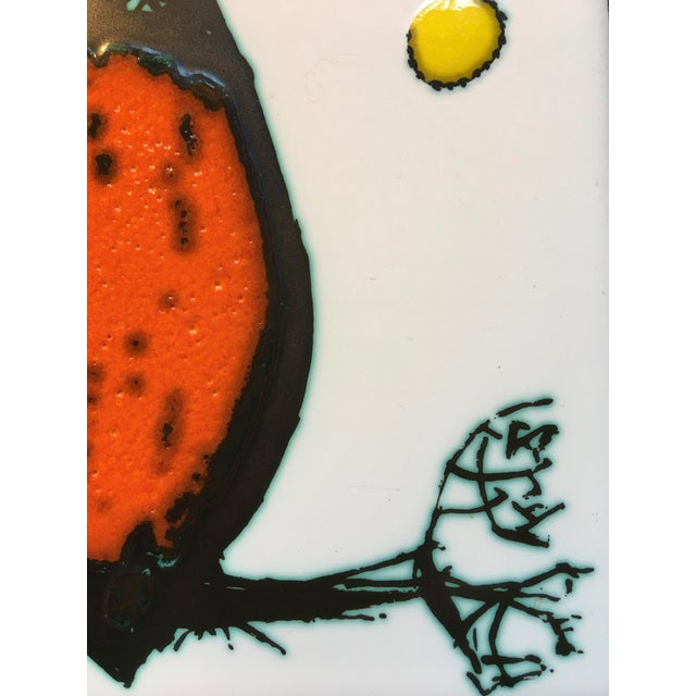 Modern Modern Kenneth Clark Owl Ceramic Tile For Sale - Image 3 of 7