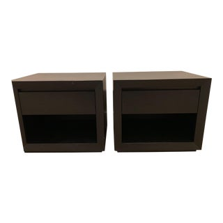 Contemporary Restoration Hardware Callum Nightstands - a Pair For Sale
