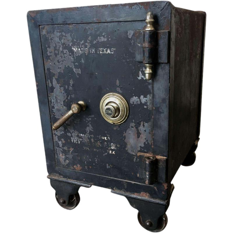 Texas Antique Yale Iron Safe With Combination Chairish