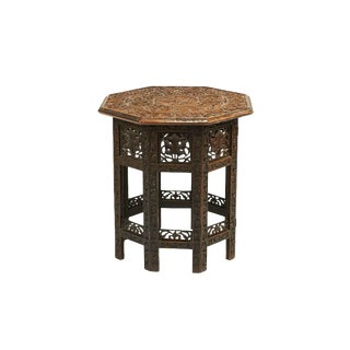 Small Anglo Indian Carved Teakwood Table