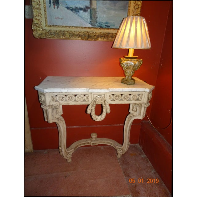 19th Century French Console With Marble Top For Sale - Image 11 of 12