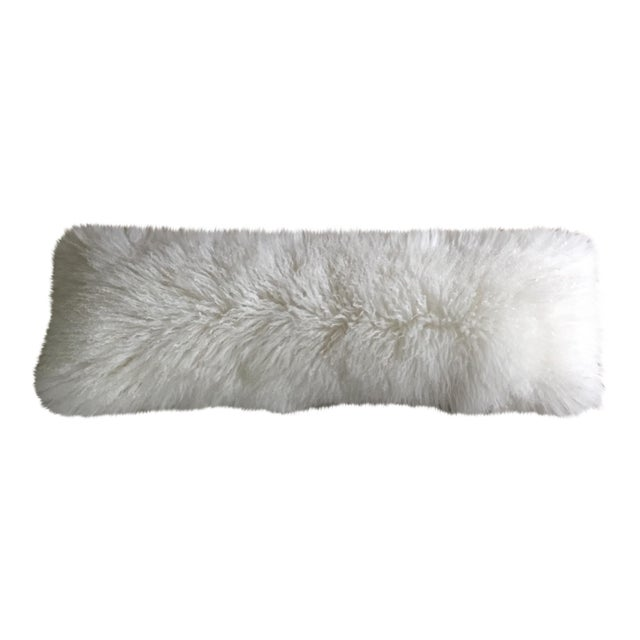 Mongolian Fur Lumbar Pillow - Image 1 of 7