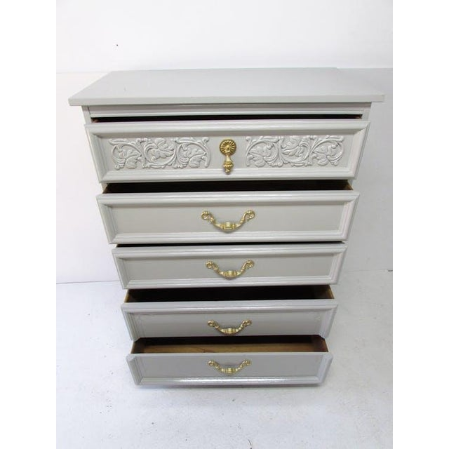 Hollywood Regency Dixie Mid Century Chest of Drawers For Sale - Image 3 of 8