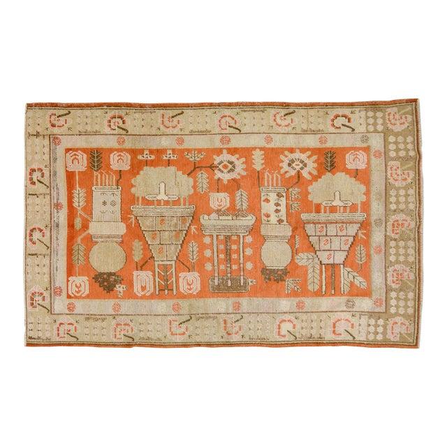 """Antique Khotan Rug,5'x8'5"""" For Sale"""