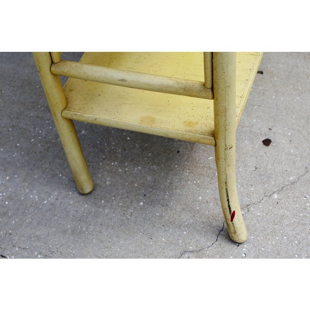 1960s Vintage Yellow Rattan Etagere - Heavy For Sale - Image 5 of 12