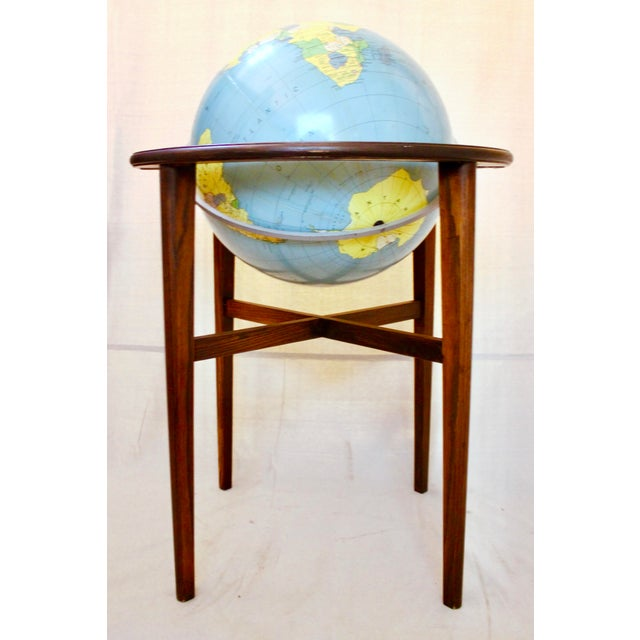 A.J. Nystrom A J Nystrom & Co. 1968 Standing Library Globe For Sale - Image 4 of 12