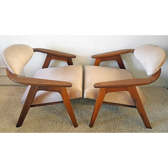 Adrian Pearsall Craft Captain Chairs - Pair - Image 3 of 8