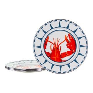 Dinner Plates Lobster - Set of 4 For Sale