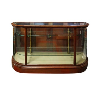 20th Century Traditional Display Case With Rounded Glass For Sale