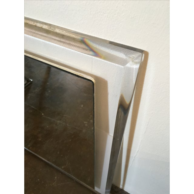 Mid-Century Modern Lucite Framed Wall Mirror - Image 4 of 8