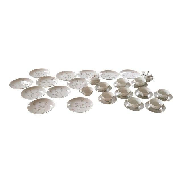 Porcelain Schonwald Dandelion Tea Cups Set - Set of 32 For Sale