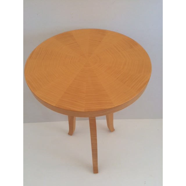 2010s Todd Hase Sycamore Marquetry Gueridon Table For Sale - Image 5 of 10