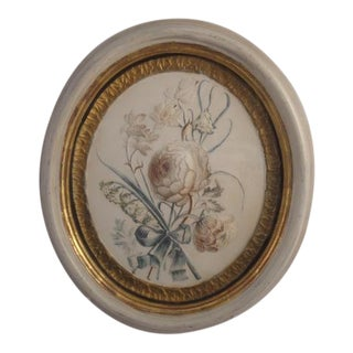 Oval Plaster Plaque, Moulded in Relief. For Sale