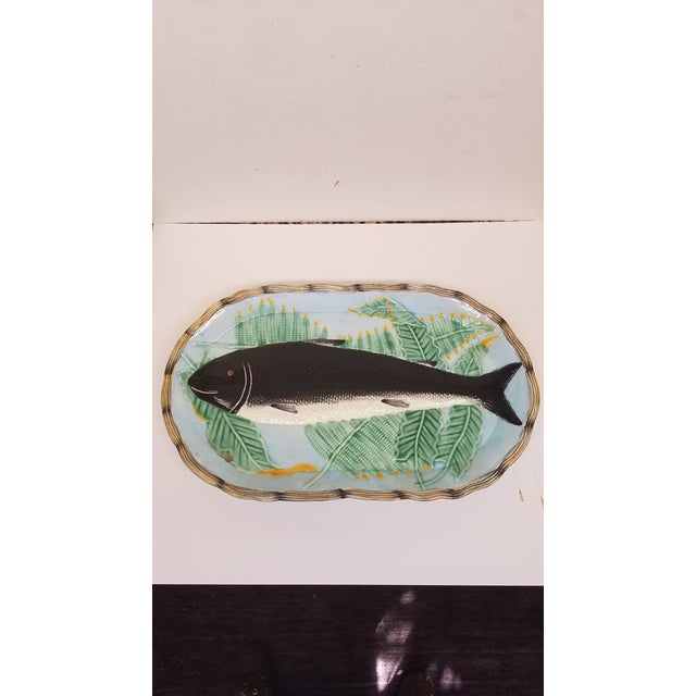 1990s 1990s Vintage Fitz and Floyd Majolica Style Fish Wall Platter For Sale - Image 5 of 5