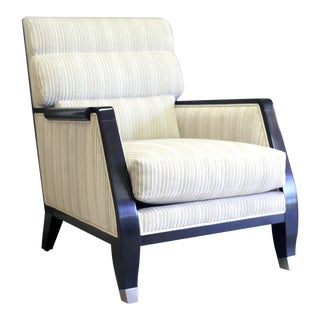 Lucien Rollin Collection Chenille Side Chair For Sale